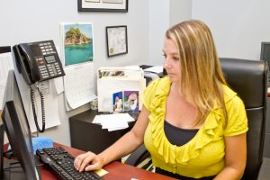 michelle at office